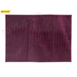 Обложка для паспорта Миленд кожа Игуана фолетовая
