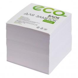 Блок для записей белый 9х9х9см Hatber ECO