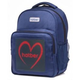 Рюкзак Hatber LED Joy mini 40х30см Синий